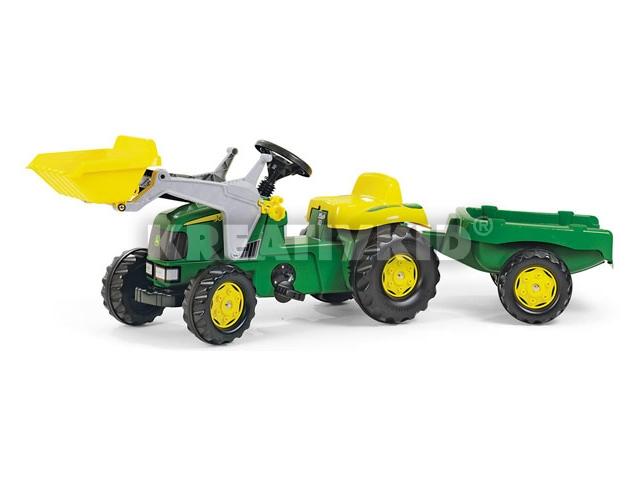 Markolós traktor+utánfutó J.D.
