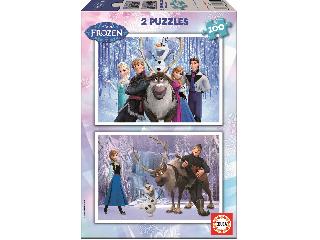 Jégvarázs puzzle 2x100 db-os
