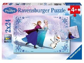 Jégvarázs puzzle 2x24 db - Testvérek örökre