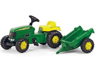 John Deere traktor + utánfutó