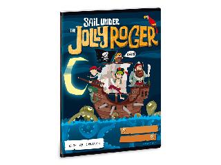 Jolly Roger 3. oszt. vonalas A/5 füzet 1232