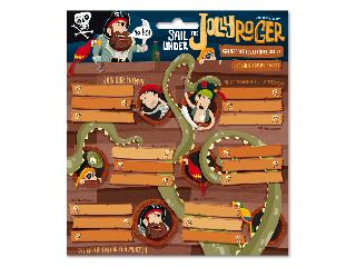Jolly Roger csomagolt füzetcímke (3x6 db)