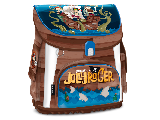 Jolly Roger kompakt easy mágneszáras iskolatáska + ajándék Activity Family társasjáték