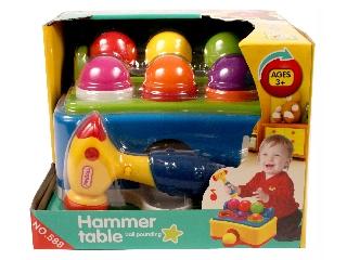Kalapácsos asztal bébijáték