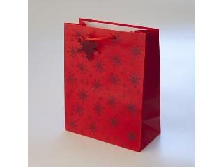Karácsonyi exkluzív extra nagy díszzacskó (piros, ezüst, arany)