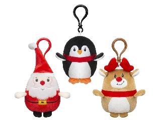 Karácsonyi plüss kulcstartók, 3 féle