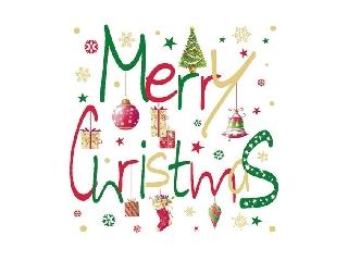 Karácsonyi szalvéta Merry Christmas