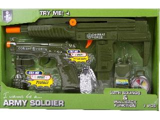 Katonai játékszett 7 db-os