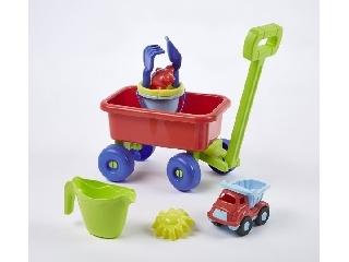 Kiskocsi homokozó készlettel