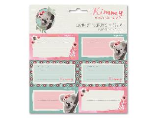 Kimmy csomagolt füzetcímke (3x6 db)