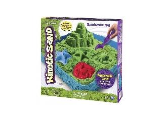 Kinetikus homok - Zöld közepes kastély szett