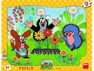 Kisvakond keretes lappuzzle - 12 db-os (Dino)