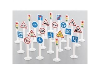 Közlekedési jelzőtáblák - 24 darabos