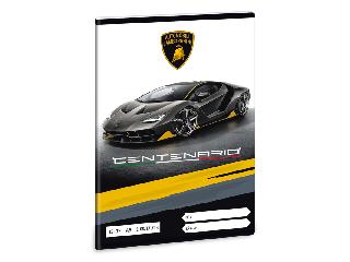Lamborghini 3. oszt. vonalas A/5 füzet - fekete