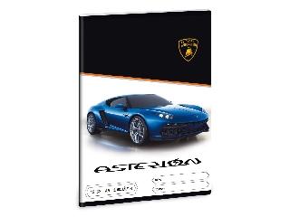 Lamborghini 3. oszt. vonalas A/5 füzet - kék