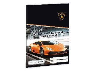 Lamborghini 3. oszt. vonalas A/5 füzet - narancs