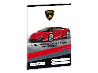 Lamborghini 3. oszt. vonalas A/5 füzet - piros