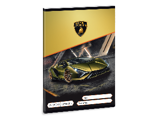 Lamborghini A/5 négyzethálós füzet 2732
