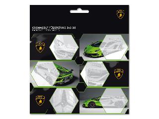 Lamborghini csomagolt füzetcímke (3x6 db)