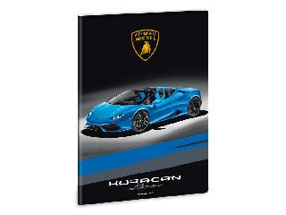 Lamborghini füzet A/4 négyzethálós (kék)