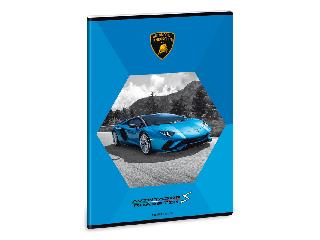 Lamborghini füzet A/4 négyzethálós (kék 2)