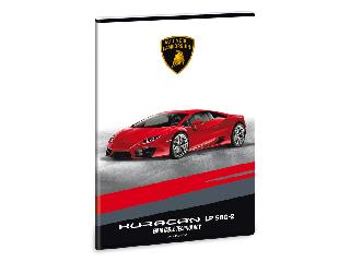 Lamborghini füzet A/4 négyzethálós (piros)