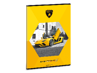 Lamborghini füzet A/4 négyzethálós (sárga)