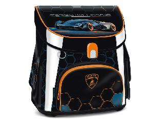 Lamborghini mágneszáras iskolatáska + ajándék Activity Family társasjáték