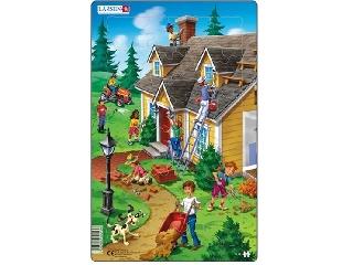 Larsen midi puzzle - 30 db-os - Ház (bal oldal)