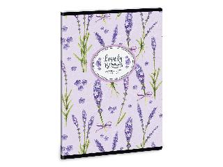 Lavender füzet négyzethálós A/5