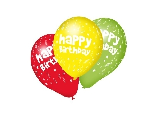 Léggömb / 10 db Happy Birthday