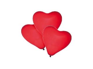 Léggömb / 4 db piros szívek