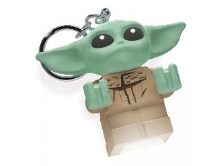Lego Star Wars - Baby Yoda-Mandalorian  világító kulcstartó
