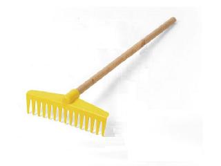 Lena: Kerti szerszámok sárga gereblye (60 cm)