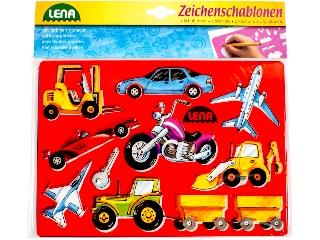 Lena Rajzsablon - Közlekedés és Járművek