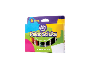 Little Brian Paint Sticks Classic Colours 6 Assorted /LBPS10CA6