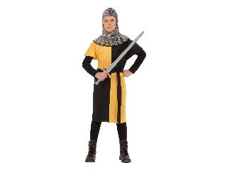Lovag jelmez 128-as méret (sárga)