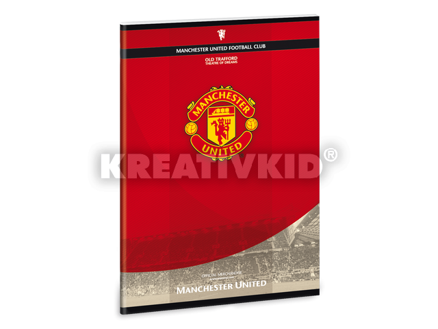 Manchester United A/5-ös füzet vonalas