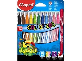 Maped - Kimosható filctoll készlet 12 db-os - Color Peps Jungle
