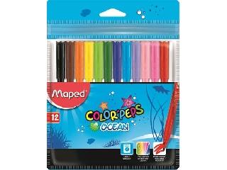 Maped - Kimosható filctoll készlet 12 db-os - Color Peps Ocean