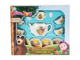 Mása és a medve porcelán teáskészlet