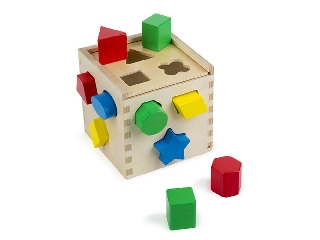M&D - Fa készségfejlesztő játék - Formarendező kocka