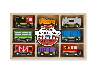 M&D - Fa vonatok és sínek - Vonatszerelvények 8 Db-os szett