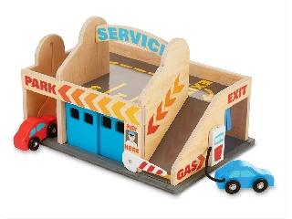 M&D- Fa játék - Autómosó és garázs