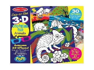 M&D - Kreatív játék - 3D Színező könyv - Állatok