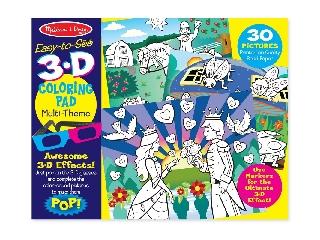 M&D - Kreatív játék - 3D színező könyv - Lányos