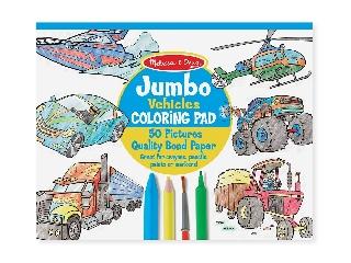 M&D - Kreatív játék - Jumbo színező: járművek