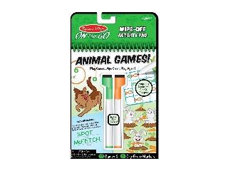 M&D Kreatív játék - letörölhető lapok - állati játékok