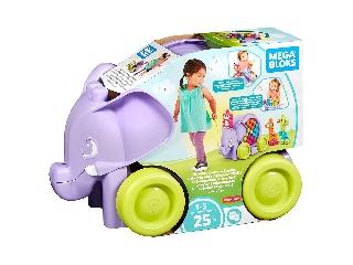 Mega Bloks - Bukfencező elefánt - Lila