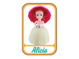 Meglepi fagyikehelybaba - Alicia (piros-zöld)